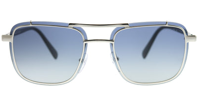 Prada PR 59US 1BC8Z1 Square Metal Silver Sunglasses with Dark Blue Gradient Lens