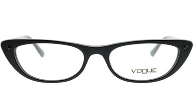 Vogue Eyewear VO 5236B W44 Cat-Eye Plastic Black Eyeglasses with Demo Lens