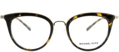 Michael Kors MK 3026 3333 Round Metal Gold Eyeglasses with Demo Lens