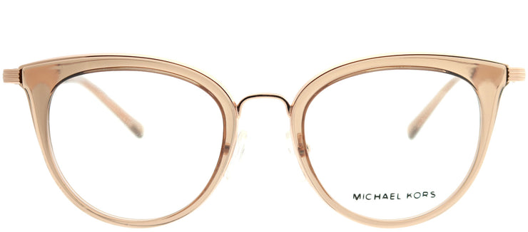 Michael Kors MK 3026 3501 Round Metal Gold Eyeglasses with Demo Lens
