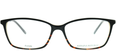 Banana Republic BP Cate JYY Rectangle Plastic Black Eyeglasses with Demo Lens