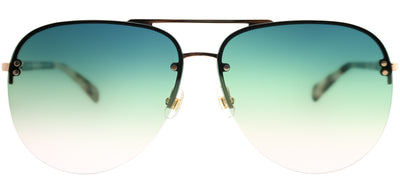 Kate Spade KS Jakayla HT8 JP Aviator Metal Gold Sunglasses with Green Pink Gradient Lens