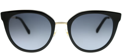 Kate Spade KS Jazzlyn 2M2 9O Cat-Eye Plastic Black Sunglasses with Dark Grey Gradient Lens