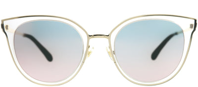Kate Spade KS Jazzlyn S45 0J Cat-Eye Plastic Pink Sunglasses with Rose Gold Mirror Lens