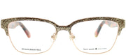 Kate Spade KS Ladonna S41 Rectangle Metal Gold Eyeglasses with Demo Lens