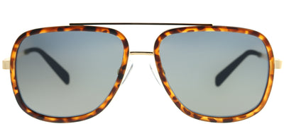 Polaroid PLD 6033/S 086 LM Square Plastic Tortoise/ Havana Sunglasses with Gold Mirror Polarized Lens