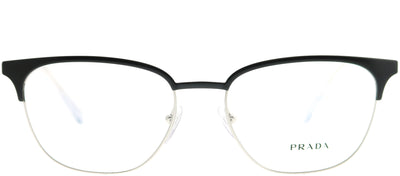 Prada PR 59UV 1BO1O1 Square Metal Black Eyeglasses with Demo Lens