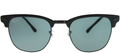 Ray-Ban RB 3716 186/R5 Clubmaster Metal Black Sunglasses with Blue Lens