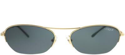 Vogue Eyewear VO 4107S 280/87 Oval Metal Gold Sunglasses with Grey Lens