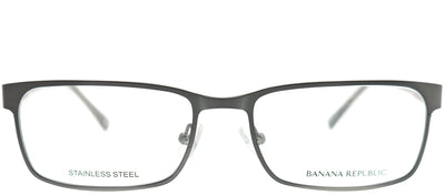 Banana Republic BP Carlyle JWW Rectangle Metal Ruthenium/ Gunmetal Eyeglasses with Demo Lens