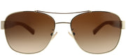 Coach HC 7064 926513 Aviator Metal Gold Sunglasses with Brown Gradient Lens