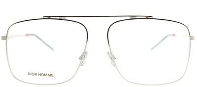 Dior Homme CD 220 010 Aviator Metal Silver Eyeglasses with Demo Lens