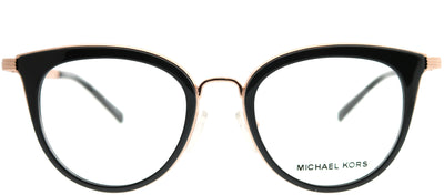 Michael Kors MK 3026 3332 Round Metal Gold Eyeglasses with Demo Lens