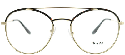 Prada PR 55UV 2AU1O1 Round Metal Gold Eyeglasses with Demo Lens