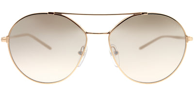 Prada PR 56US SVF204 Round Metal Gold Sunglasses with Brown Mirror Gradient Lens