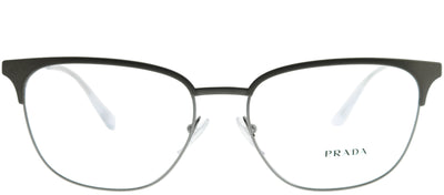 Prada PR 59UV TY31O1 Square Metal Brown Eyeglasses with Demo Lens