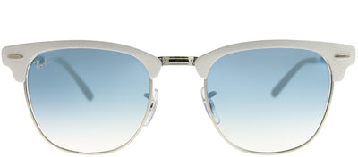 Ray-Ban RB 3716 90883F Clubmaster Metal Ivory/ White Sunglasses with Blue Gradient Lens