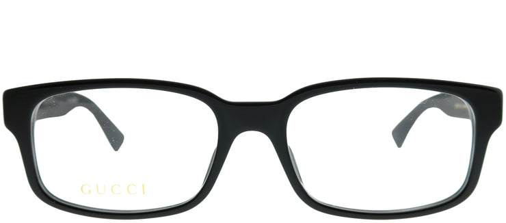 Gucci GG 0012O 001 Rectangle Plastic Black Eyeglasses with Demo Lens