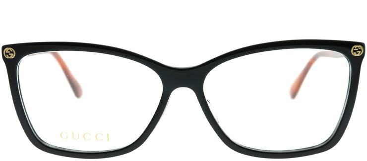 Gucci GG 0025O 003 Rectangle Plastic Black Eyeglasses with Demo Lens
