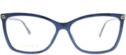 Gucci GG 0025O 005 Rectangle Plastic Blue Eyeglasses with Demo Lens