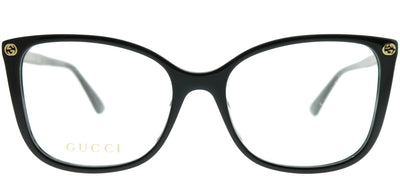 Gucci GG 0026O 001 Square Plastic Black Eyeglasses with Demo Lens