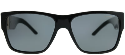 Versace VE 4296 GB1/81 Square Plastic Black Sunglasses with Grey Polarized Lens