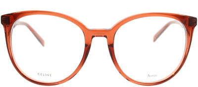 Celine CL 41348 EFB Round Plastic Orange Eyeglasses with Demo Lens