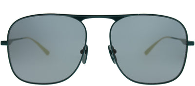 Gucci GG 0335S 003 Aviator Metal Green Sunglasses with Grey Lens