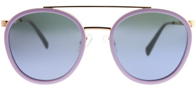 Polaroid PLD 6032/S 35J MF Round Metal Pink Sunglasses with Purple Mirror Polarized Lens