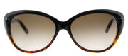Kate Spade KS Angelique EUT Cat-Eye Plastic Tortoise/ Havana Sunglasses with Brown Gradient Lens