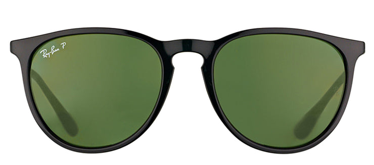 Ray-Ban RB 4171 601/2P Oval Plastic Black Sunglasses with Green Polarized Lens