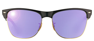 Ray-Ban RB 4175 877/1M Clubmaster Plastic Black Sunglasses with Purple Mirror Lens