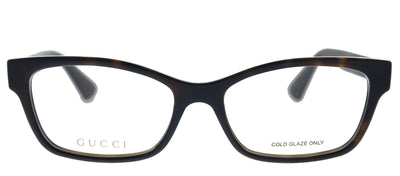 Gucci GG 0635O 005 Rectangle Plastic Havana Eyeglasses with Demo Lens