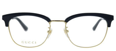 Gucci GG 0698OA 002 Square Plastic Gold Eyeglasses with Demo Lens