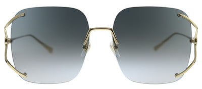 Gucci GG 0646S 001 Square Metal Gold Sunglasses with Grey Gradient Lens