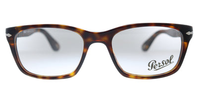 Persol PO 3012V 24 Rectangle Plastic Havana Eyeglasses with Demo Lens