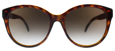 Gucci GG 0631S 002 Round Plastic Havana Sunglasses with Brown Gradient Lens
