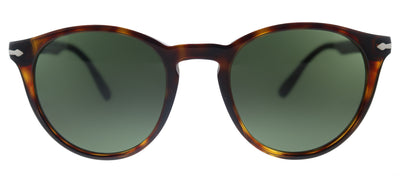 Persol PO 3152S 901531 Round Plastic Havana Sunglasses with Green Lens