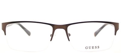 Guess GU 1879 049 Semi-Rimless Metal Brown Eyeglasses with Demo Lens
