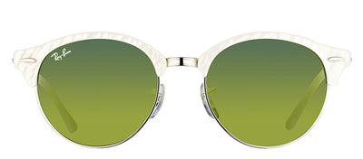 Ray-Ban RB 4246 988/2X Clubmaster Plastic Ivory/ White Sunglasses with Green Mirror Lens