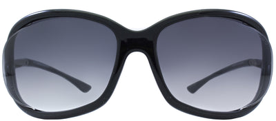 Tom Ford Jennifer TF 8 01B Fashion Plastic Black Sunglasses with Grey Gradient Lens