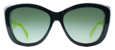 Dolce & Gabbana DG 4206 27708E Square Plastic Green Sunglasses with Green Gradient Lens