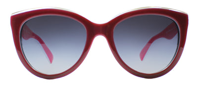 Dolce & Gabbana DG 4207 27668G Square Plastic Burgundy/ Red Sunglasses with Grey Gradient Lens
