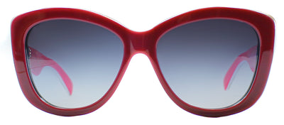 Dolce & Gabbana DG 4206 27668G Square Plastic Burgundy/ Red Sunglasses with Grey Gradient Lens