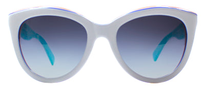 Dolce & Gabbana DG 4207 27688G Square Plastic Ivory/ White Sunglasses with Grey Gradient Lens