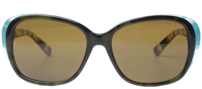 Kate Spade KS HildeP X71P Fashion Plastic Tortoise/ Havana Sunglasses with Brown Polarized Lens