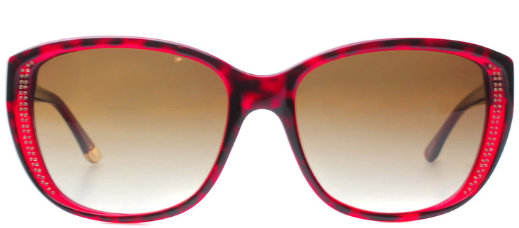 Juicy Couture JU 518 1J7 Cat-Eye Plastic Burgundy/ Red Sunglasses with Brown Gradient Lens