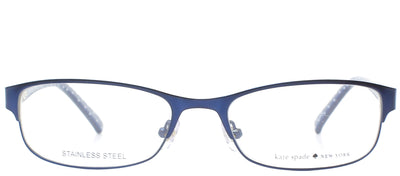 Kate Spade KS Ambrosette DA4 Rectangle Metal Blue Eyeglasses with Demo Lens