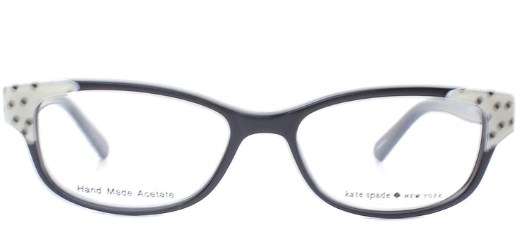 Kate Spade KS Alease X55 Fashion Plastic Black Eyeglasses with Demo Lens
