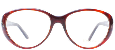 Tom Ford FT 5245 052 Cat-Eye Plastic Brown Eyeglasses with Demo Lens